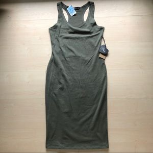 Green bodycon dress large